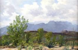 Frank Gervasi (Am. 1895-1986), Chisos Mountains, oil on