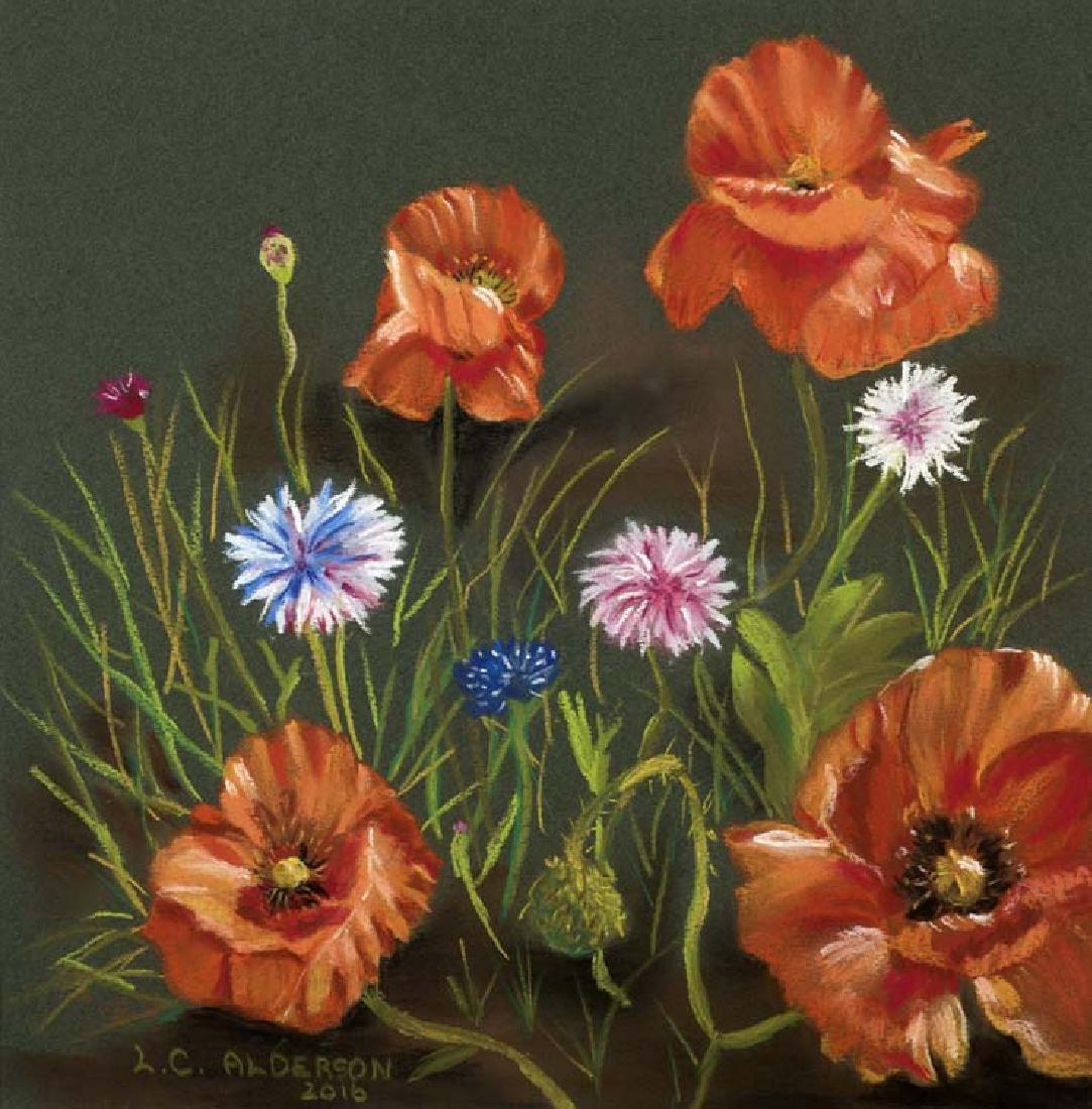Lisa Alderson  (Am. 20th Cent.), Texas Wild Flowers,
