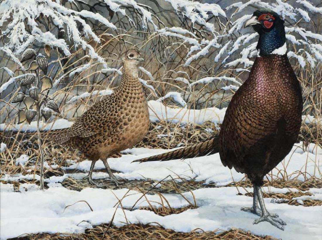 Walt Cude (Am. 20th Cent.), Pheasant in the Snow,