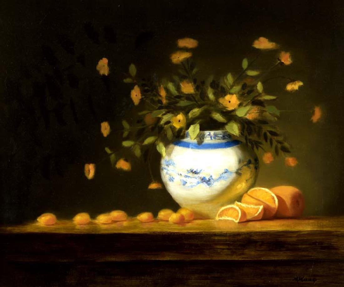 Melinda Waring (Am. 20th Cent.), Still Life, Flowers &