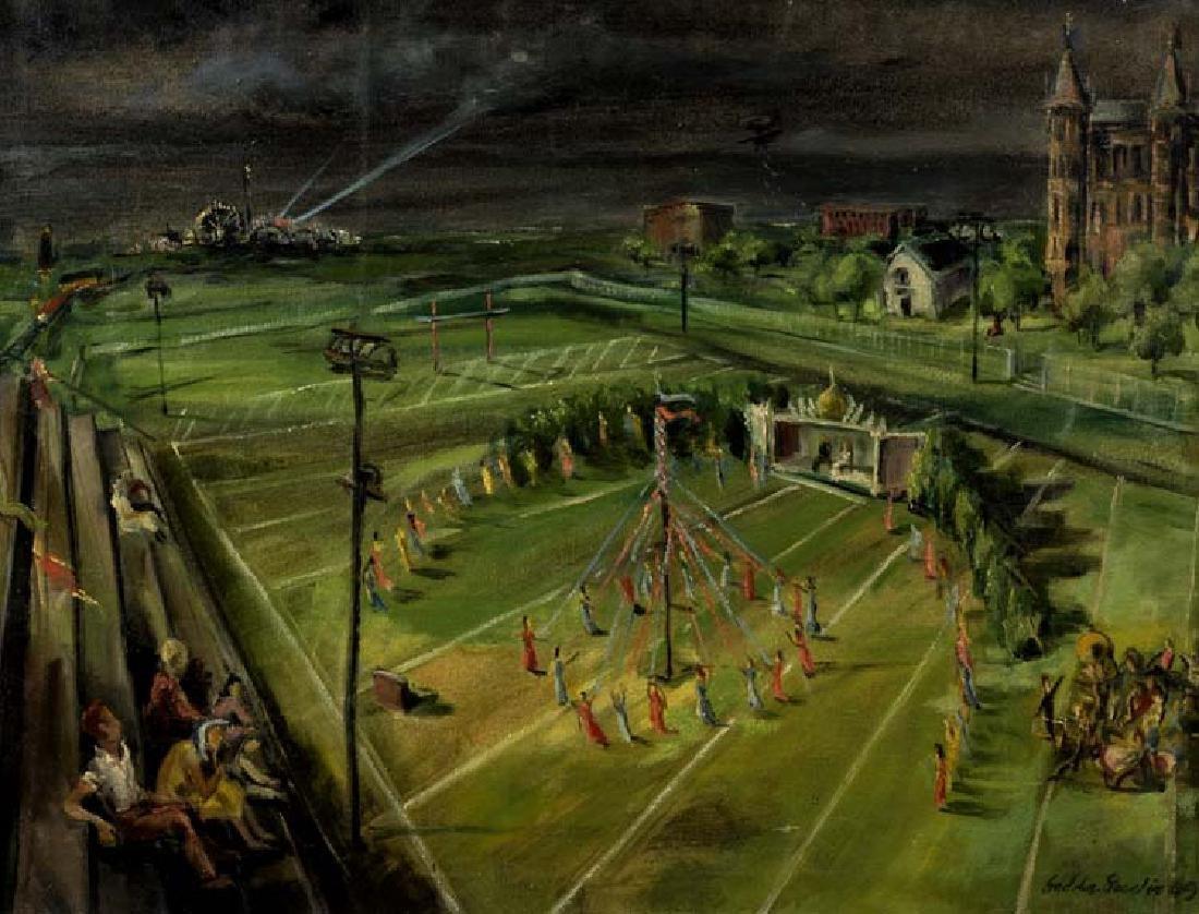 Lee Gaddis Geeslin (Am. 1920-), Untitled, 1949, oil on