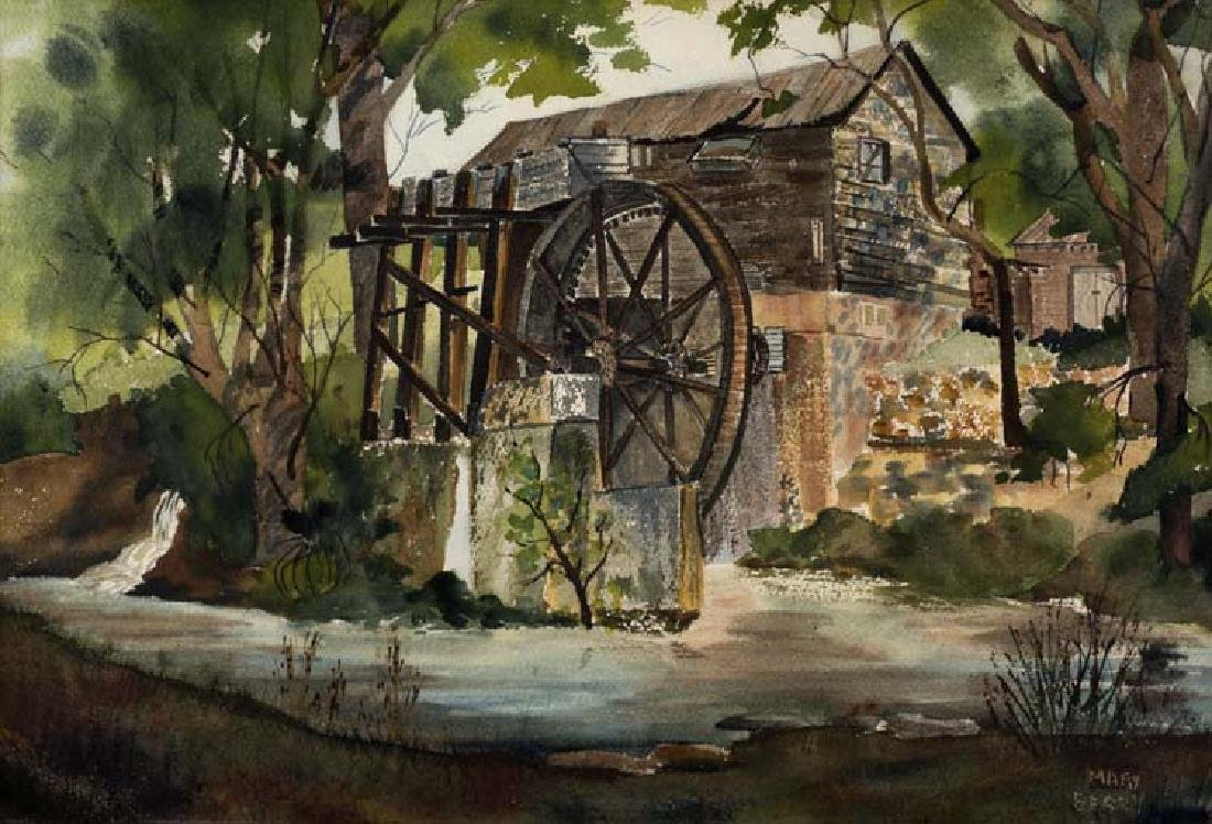 Mary  Berry (Am. 20th Cent.), Golda's Grist Mill,