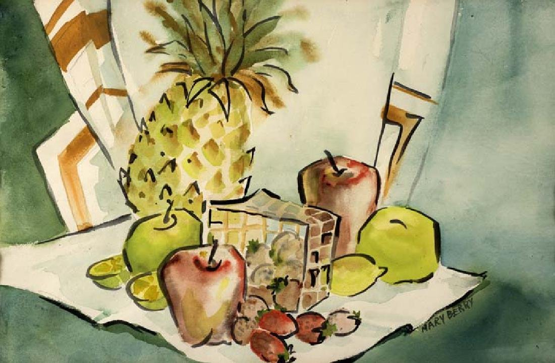 Mary  Berry (Am. 20th Cent.), Fruit Salad, watercolor