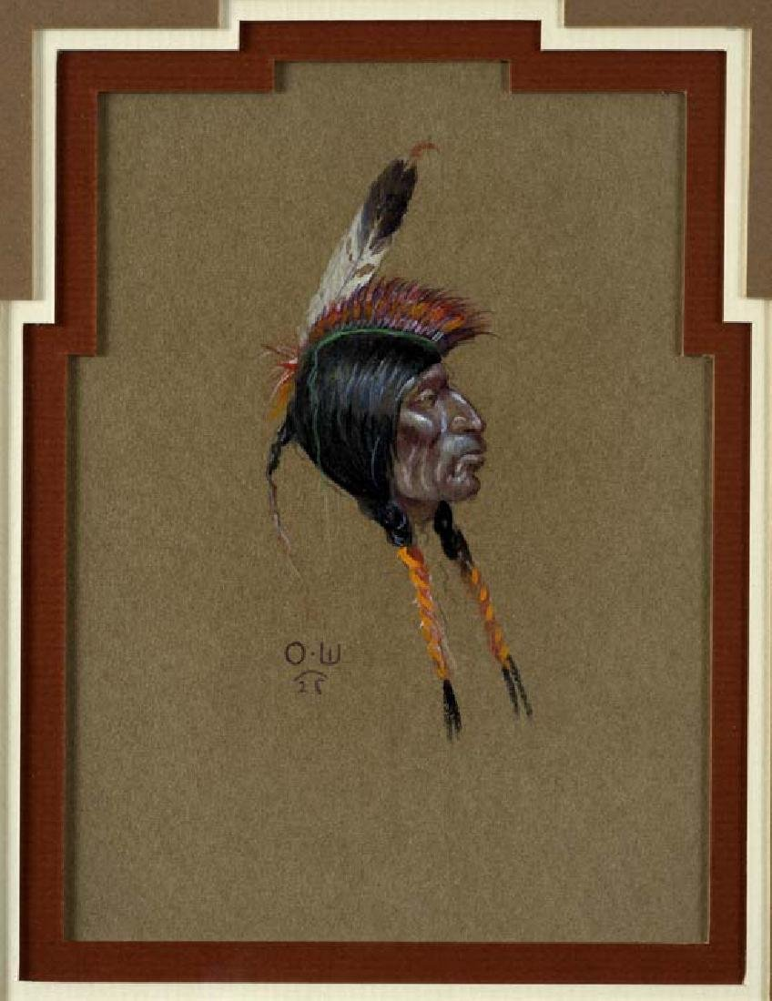 Olaf Wieghorst (Am. 1899-1988), Indian, pastel on paper