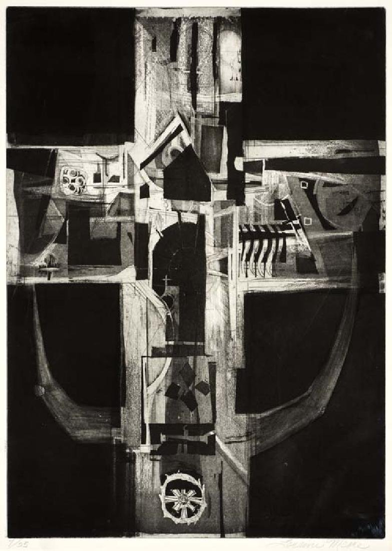 Loraine Moore (Am. 1911-1988), Untitled Abstract, 7/25,