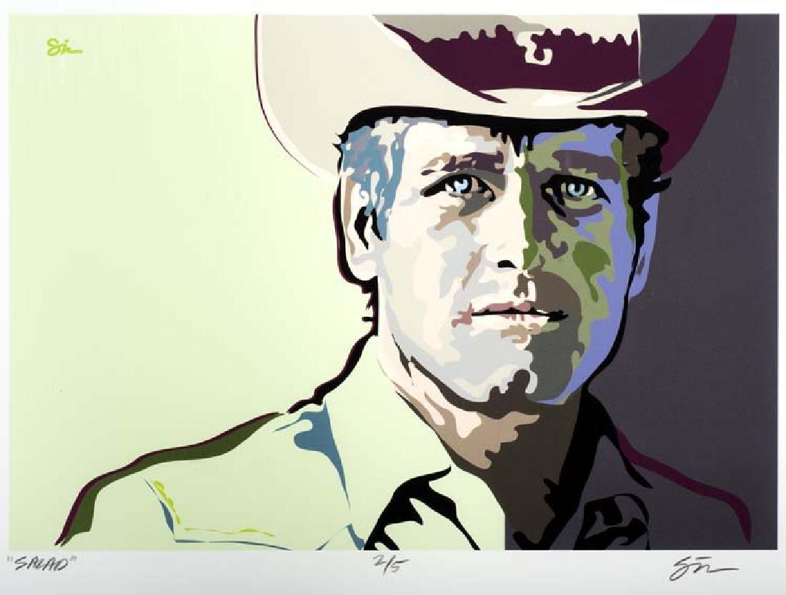 Sarah Green (Am. 1959-) , Untitled, Cowboy, screenprint