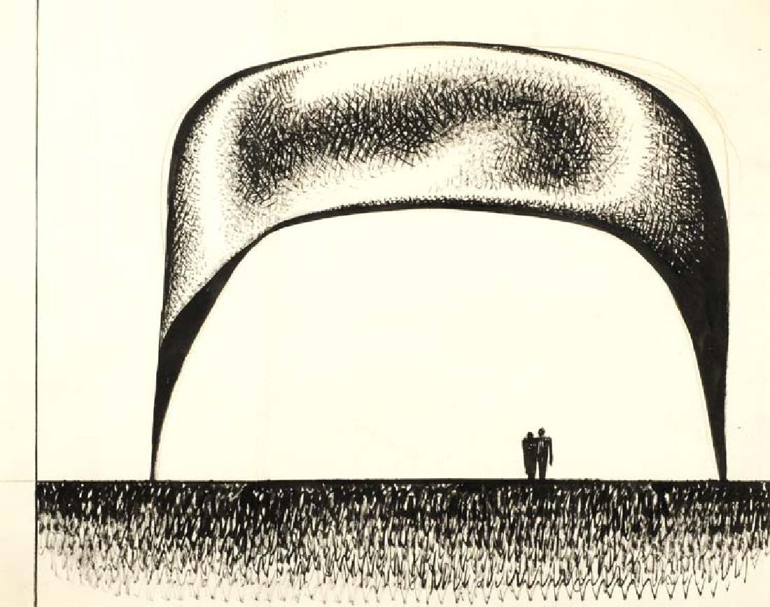 Seymour Fogel (Am. 1911-1984), Conceptual Drawing,