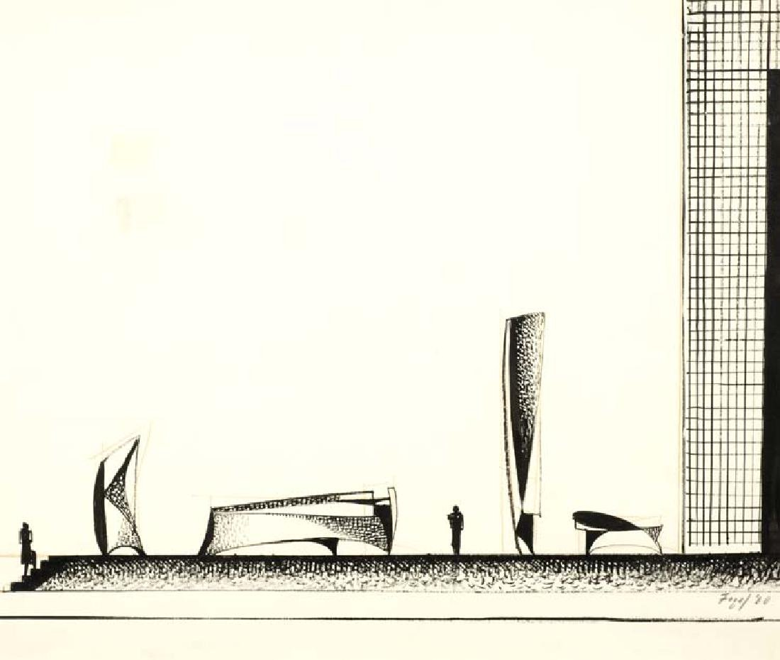 Seymour Fogel (Am. 1911-1984), Conceptual Drawing,