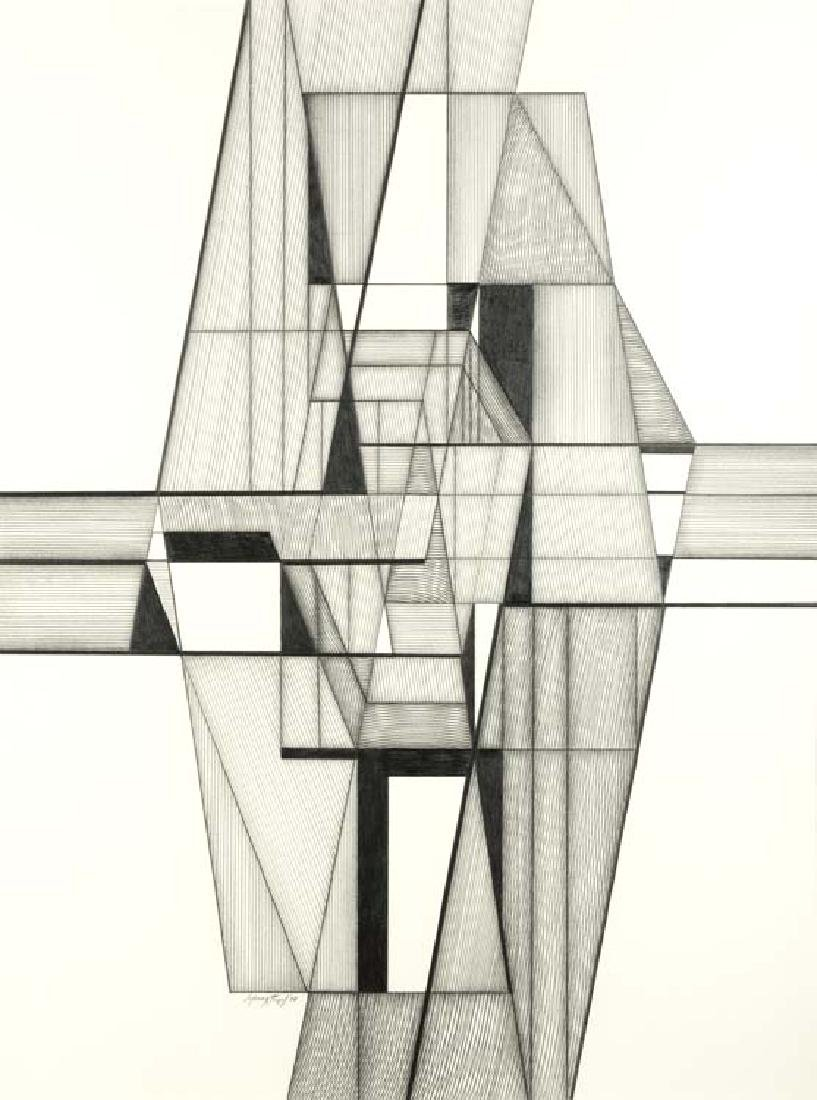 Seymour Fogel (Am. 1911-1984), Pencil Line Drawing II