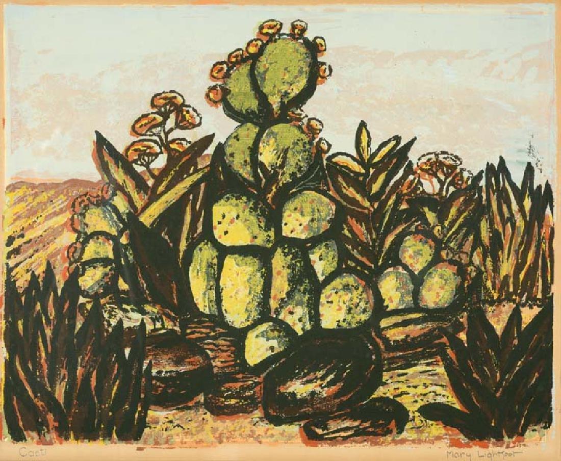 Mary Lightfoot (Am. 1889-1970), Cacti, silkscreen on