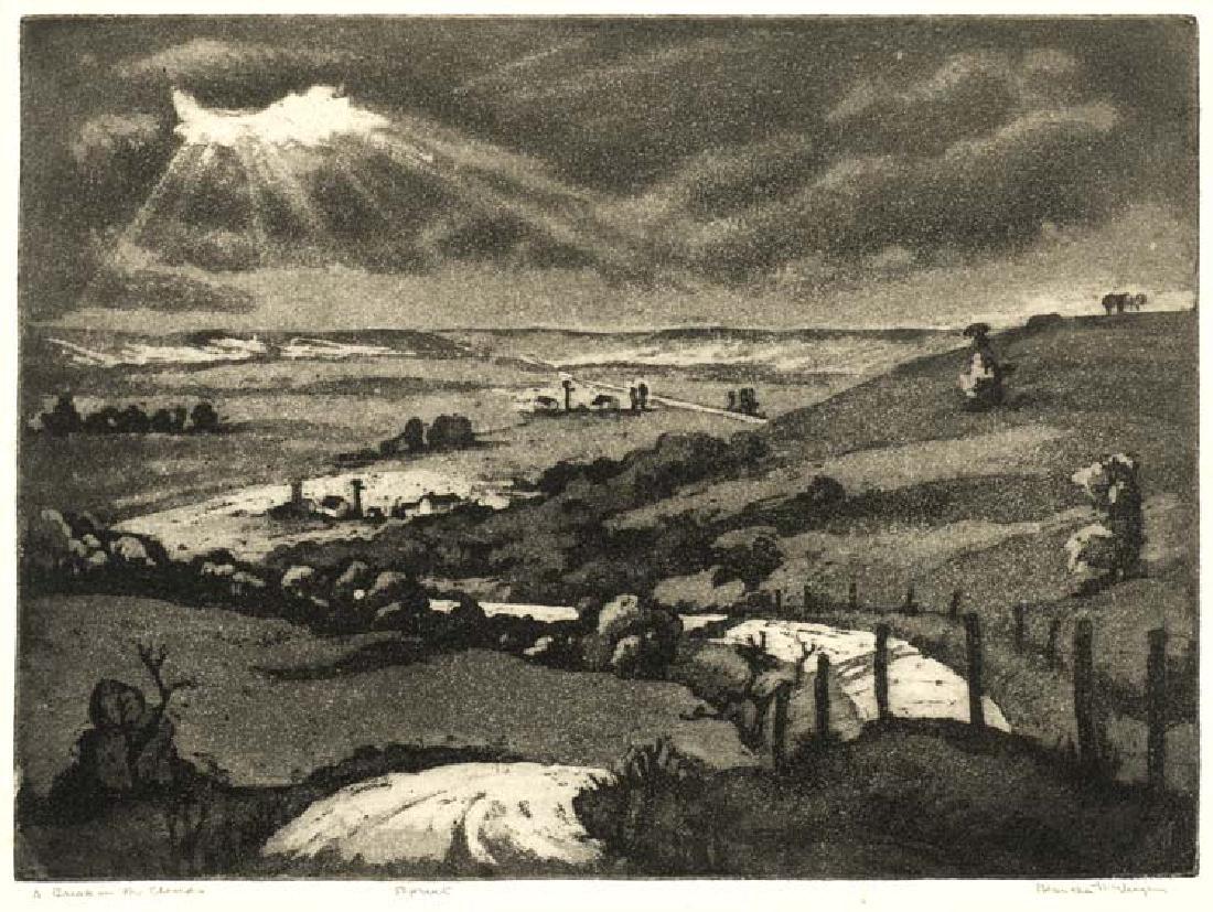 Blanche McVeigh (Am. 1895-1970), A Break in the Clouds,