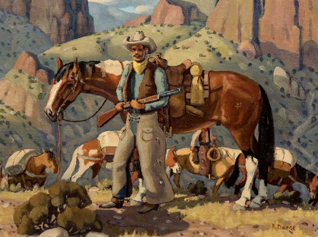 Fred Darge (Am. 1900-1978), Cowboy in Palo Duro Canyon,