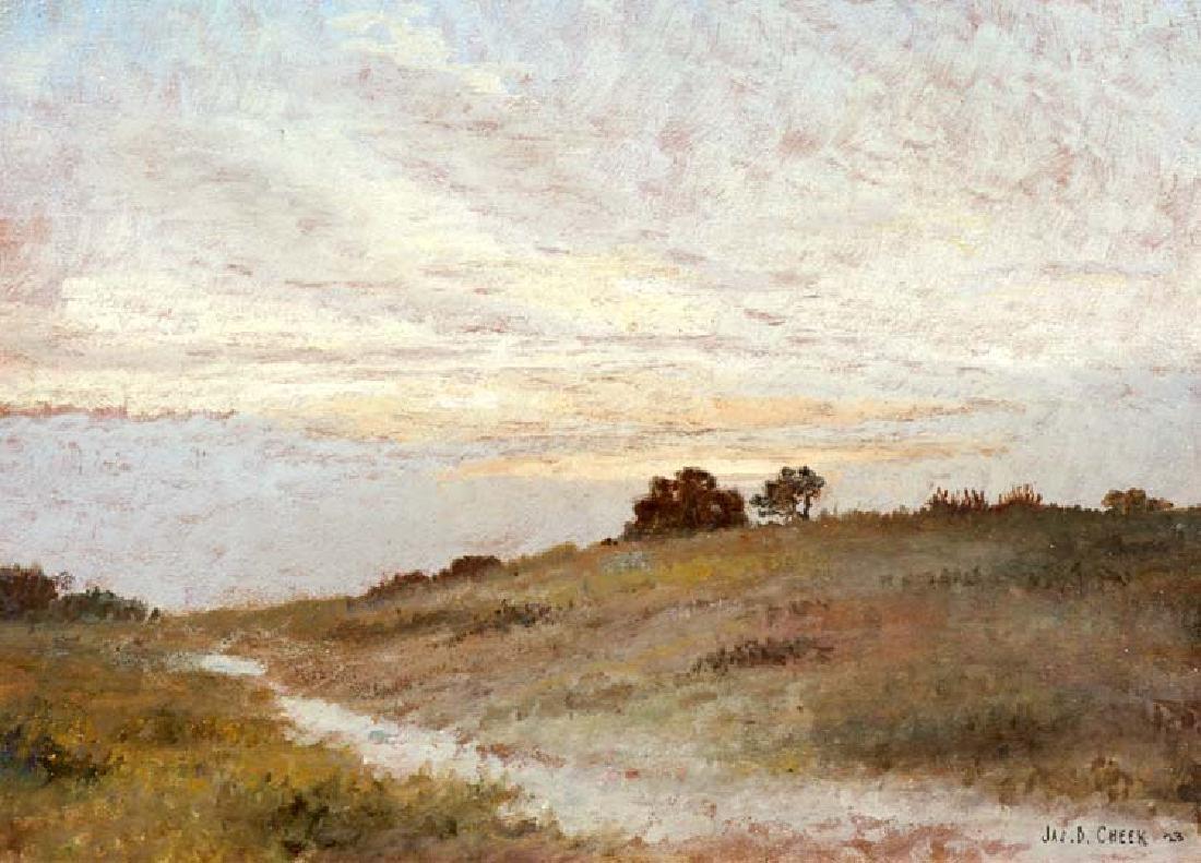 James Bruce Cheek (Am. 1895-1970) , Sunset, oil on