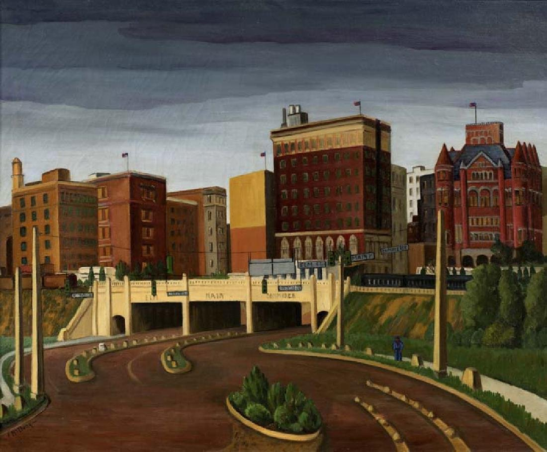 Florence McClung (Am. 1894-1992), Triple Underpass 1945