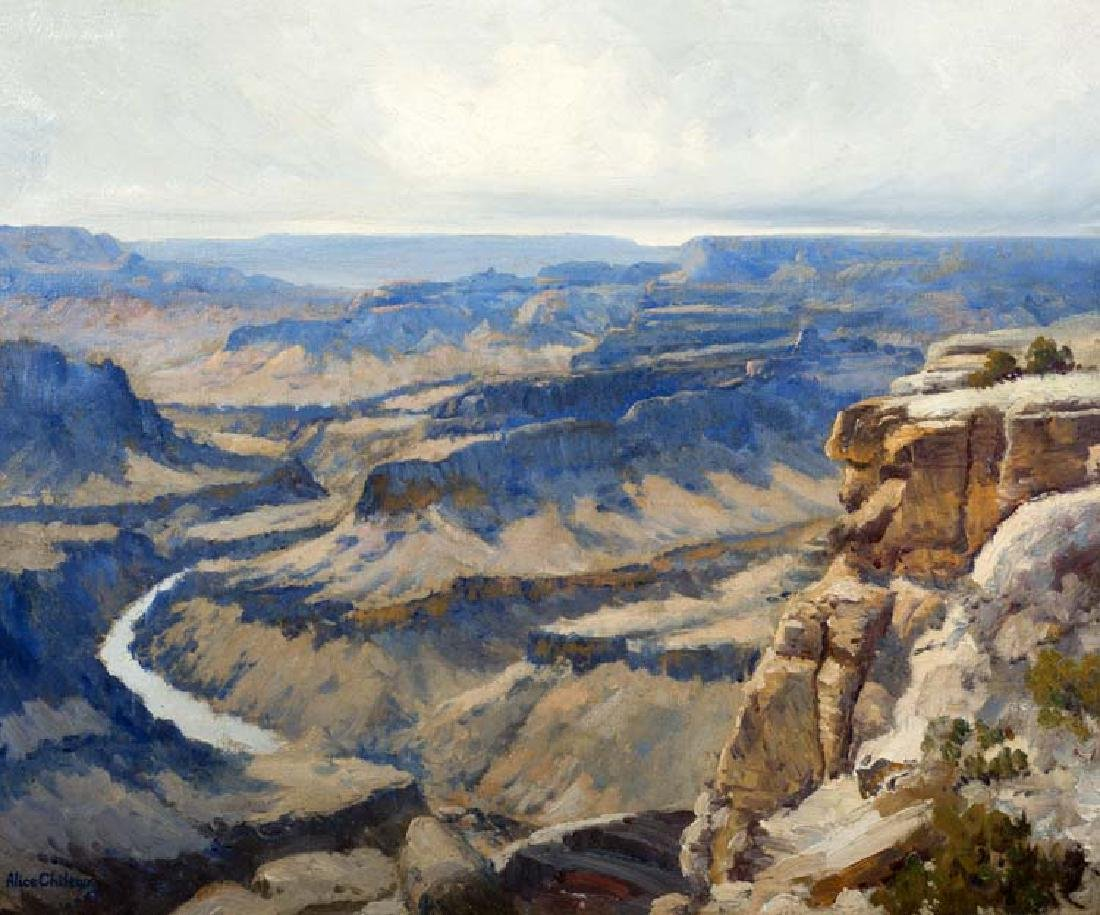 Alice Chilton (Am. 1891-1978), Grand Canyon, oil on