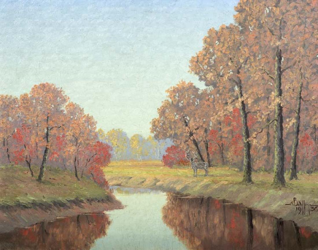 Arthur Bishop Jefferys (Am. 1868-1939), Autumn Scene,
