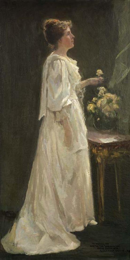 Seymour Thomas (Am. 1868-1956), Une Rose The, The Left
