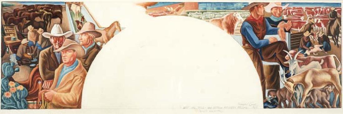 Howard Cook (Am. 1901-1980), East Wall, San Antonio