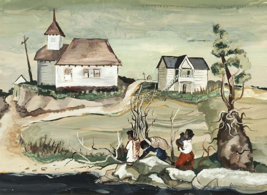Kelly Fearing  (Am. 1918-2011), The Wood Gatherers,
