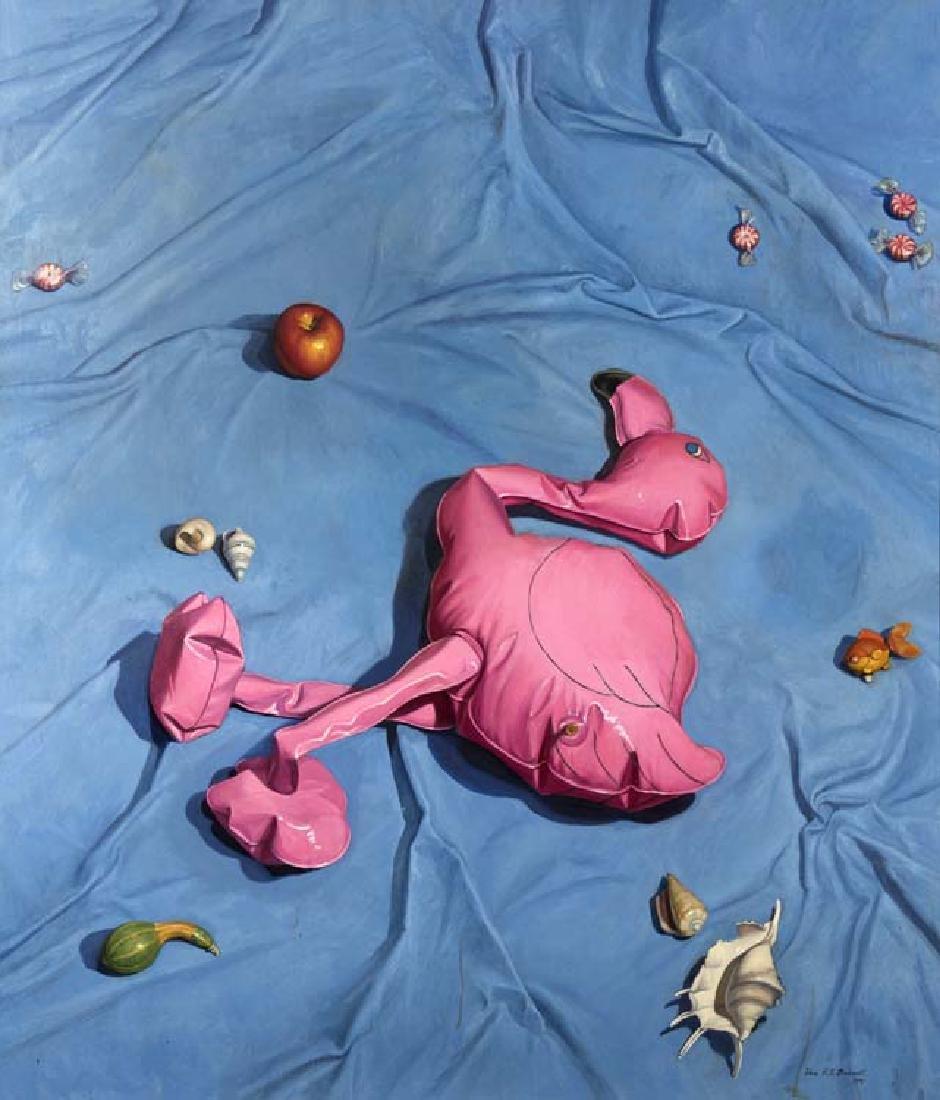 Vera Barnett (Am. 1957-), Pool Toys, 1991, oil on