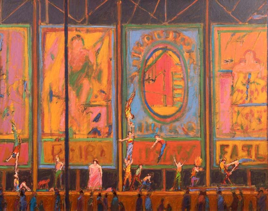 William Anzalone (Am. 1935-), Untitled, Circus, oil on