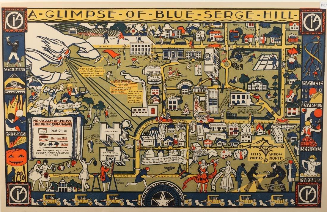 Coreen Spellman (Am. 1905-1978), A Glimpse of Blue
