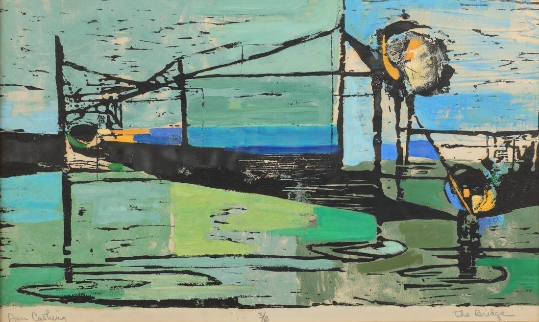 Ann Cushing Gantz (Am. 1935-2012), The Bridge, Ed.