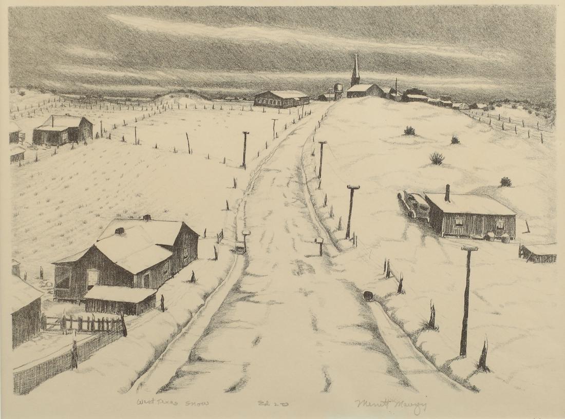 Merritt Mauzey (Am. 1898-1973), West Texas Snow,