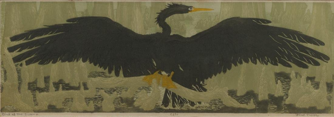 Janet Turner (Am. 1914-1988), Bird of the Swamp, Ed.