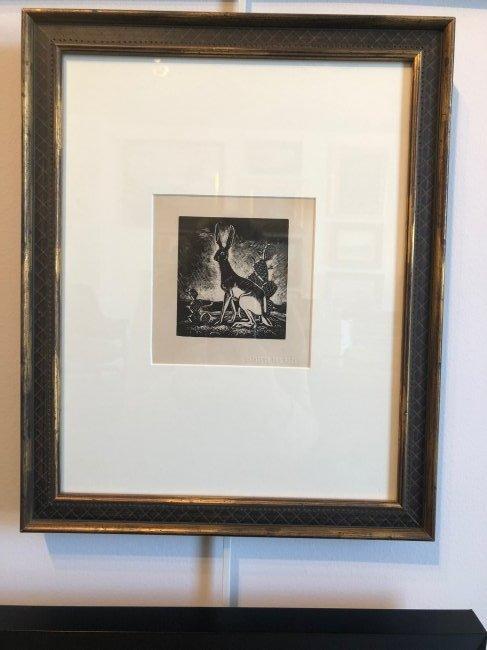 Otis Dozier (Am. 1904-1987), Jackrabbit, woodblock - 3
