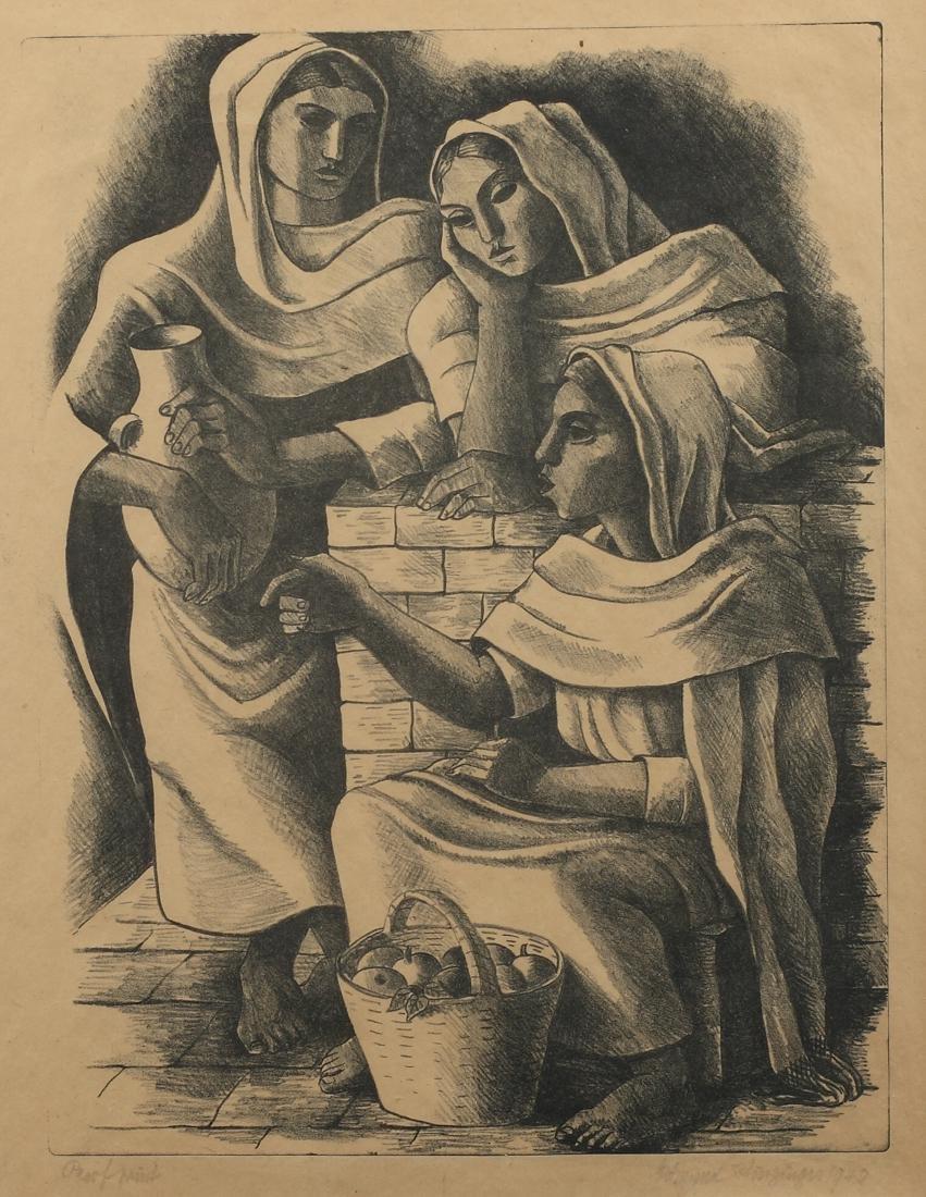 Edmund Kinzinger (Am. 1888-1963), Three Women with