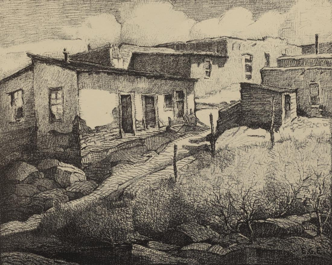 Edward Eisenlohr (Am. 1872-1961), Hillside Adobe, Santa