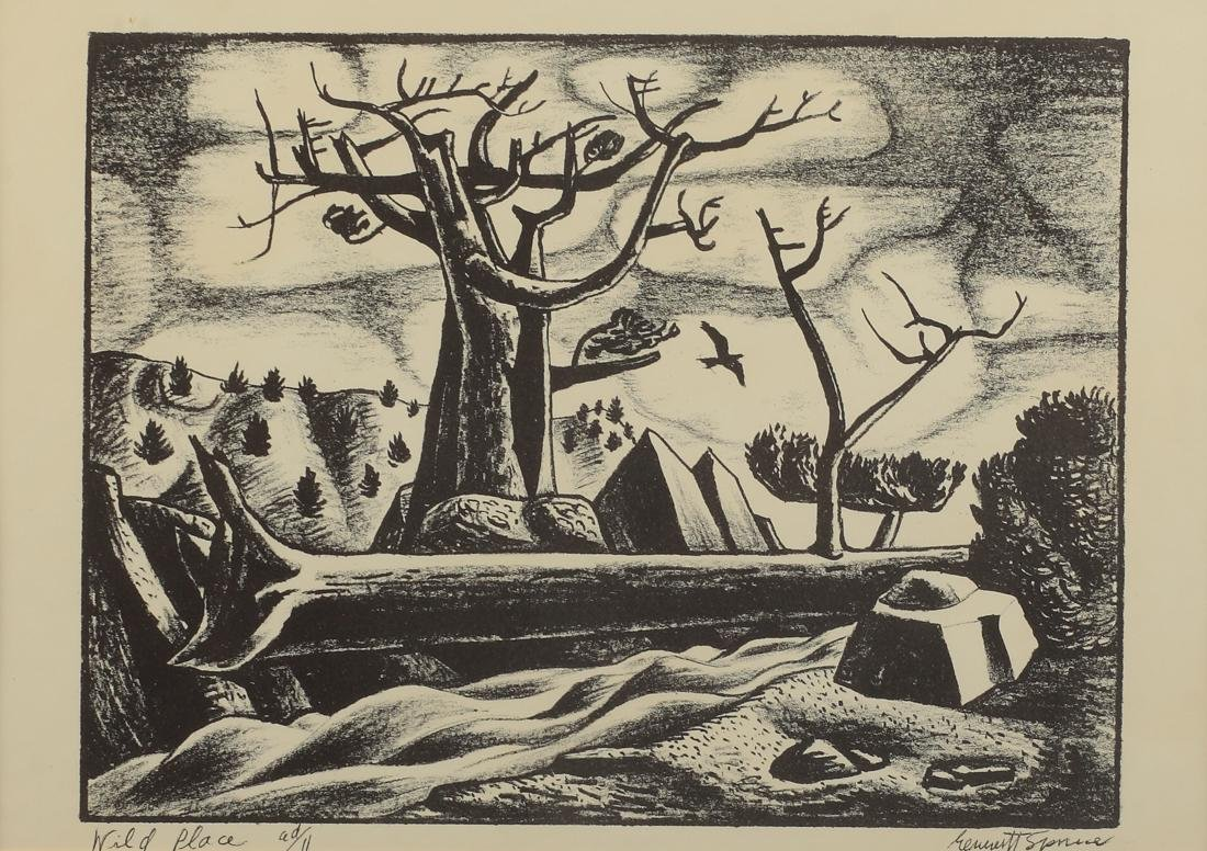Everett Spruce (Am. 1908-2002), Wild Place, lithograph