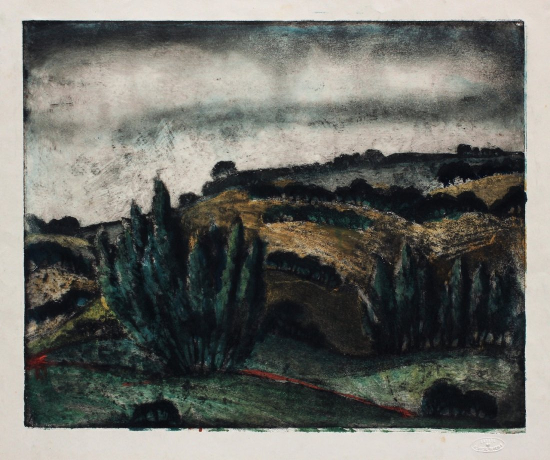 Blanche McVeigh (Am. 1895-1970), New Mexico, monoprint
