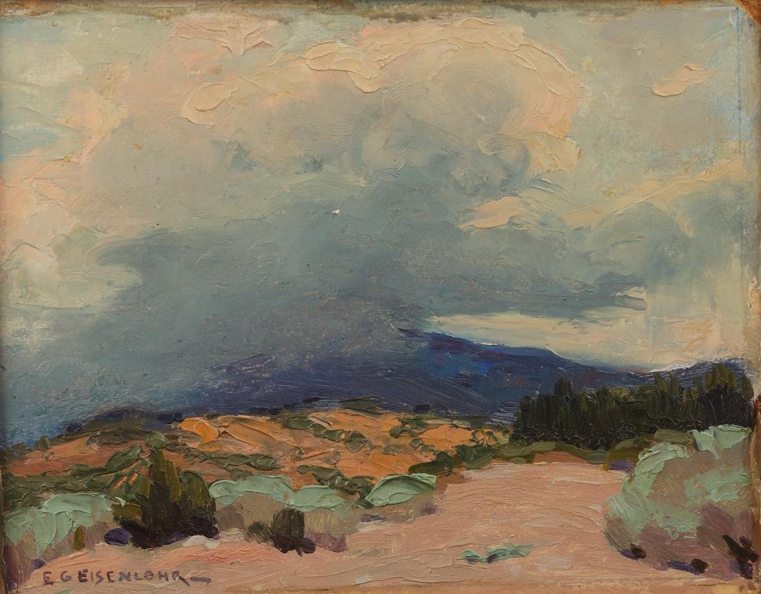 Edward Eisenlohr (Am. 1872-1961), Rain in the Arroyo,