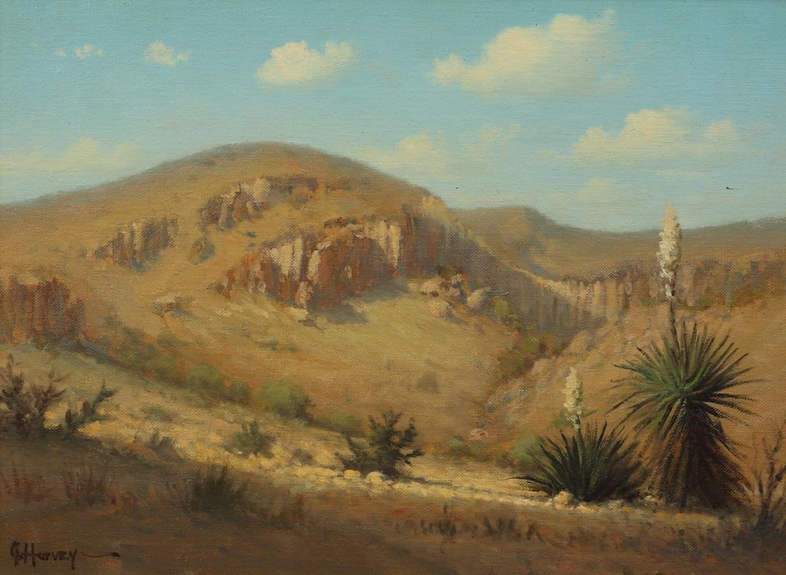 Gerald Harvey (Am. 1933-2018), Texas Hillside, oil on