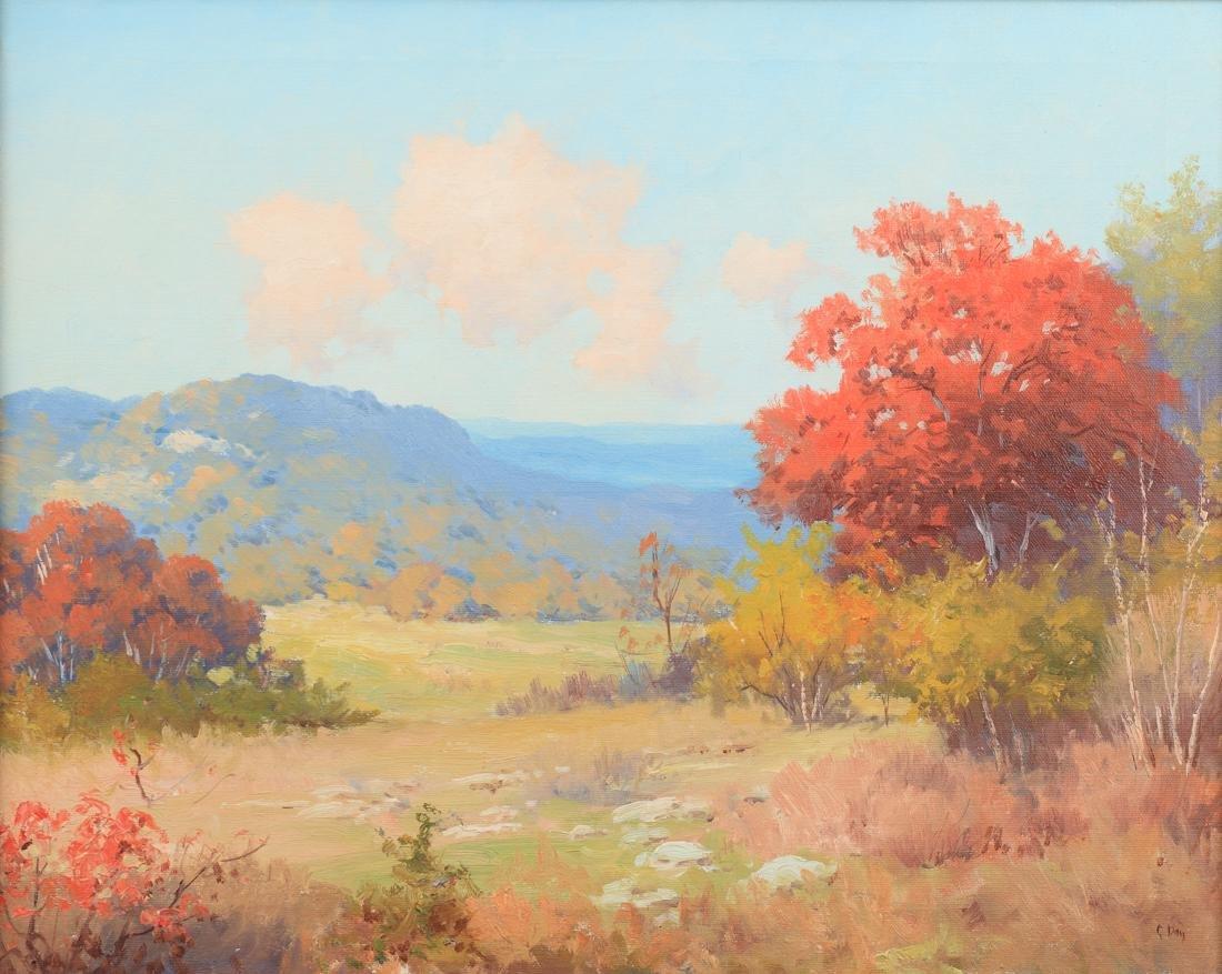 Robert Wood (Am. 1889-1979), Autumn Landscape, oil on