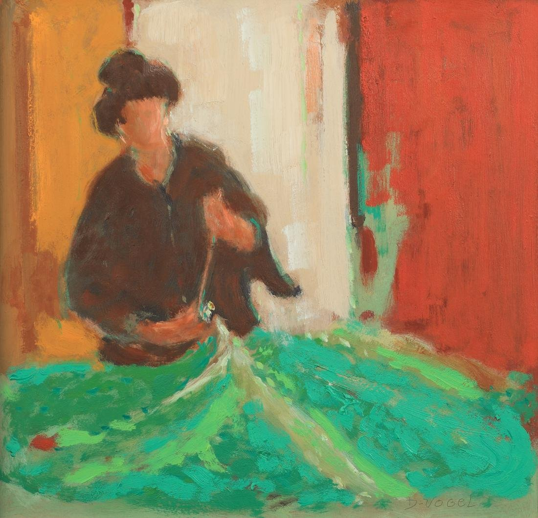 Don S. Vogel (Am. 1917-2004), The Green Fabric, oil on