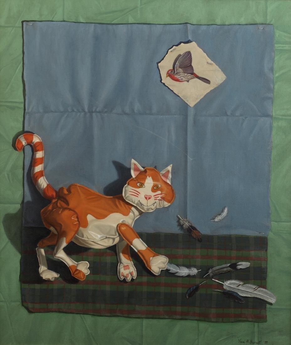 Vera Barnett (Am. 1957-), Untitled, Cat, oil on canvas