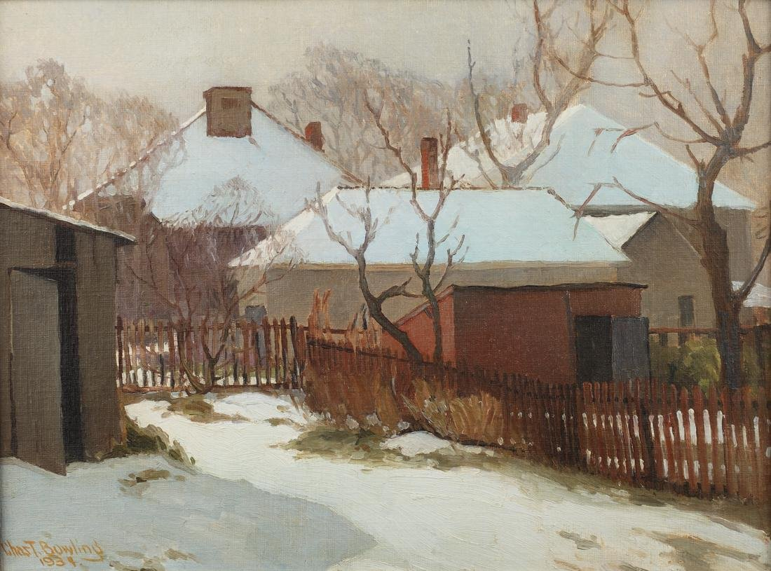 Charles T. Bowling (Am. 1891-1985), Back Yard Winter,