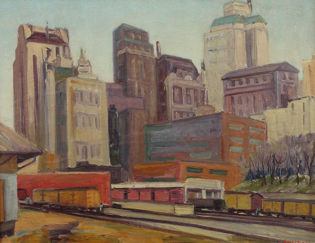 Florence McClung (Am. 1894-1992), Dallas, 1930, oil on