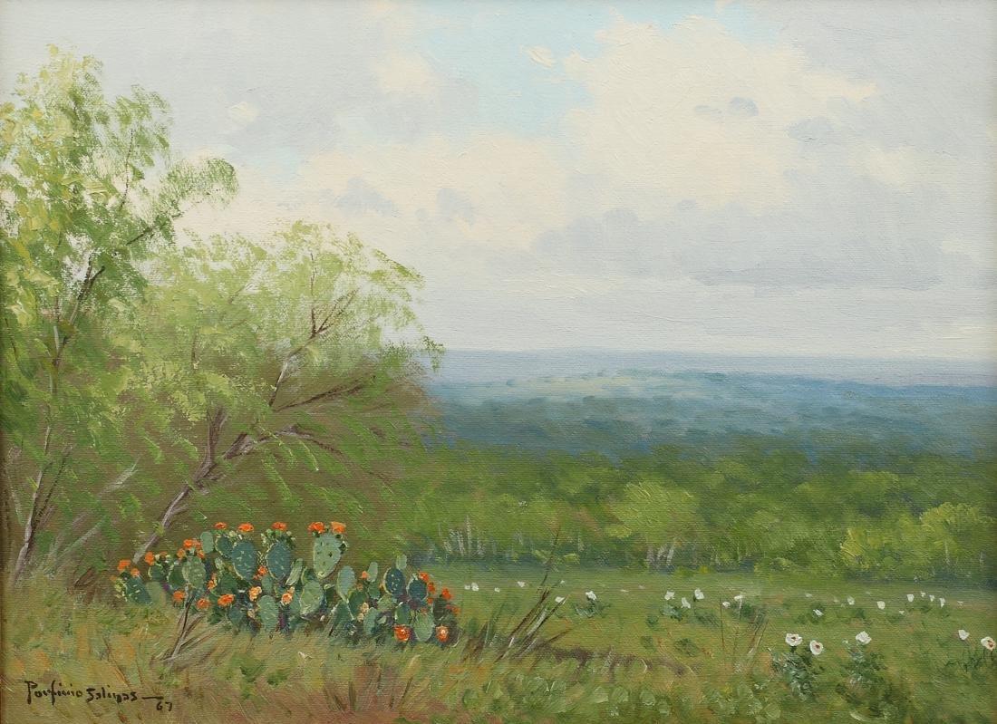 Porfirio Salinas (Am. 1910-1973), Landscape with