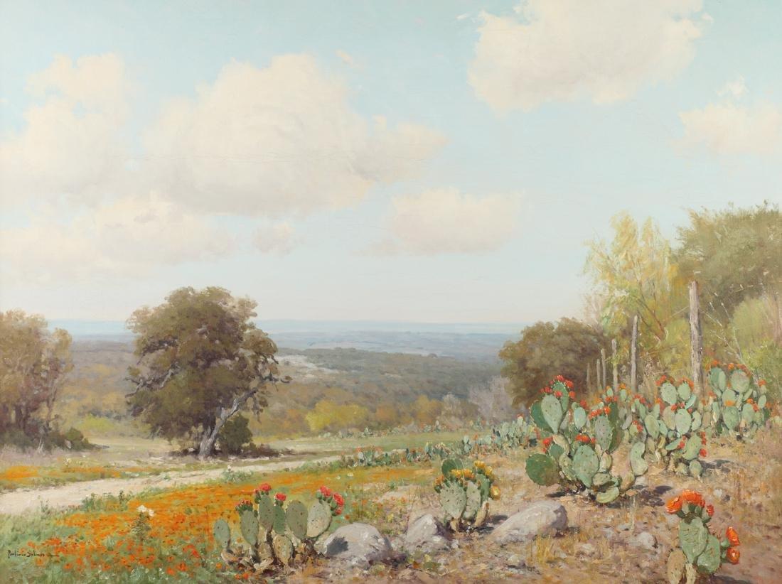 Porfirio Salinas (Am. 1910-1973), Cactus in the Hill