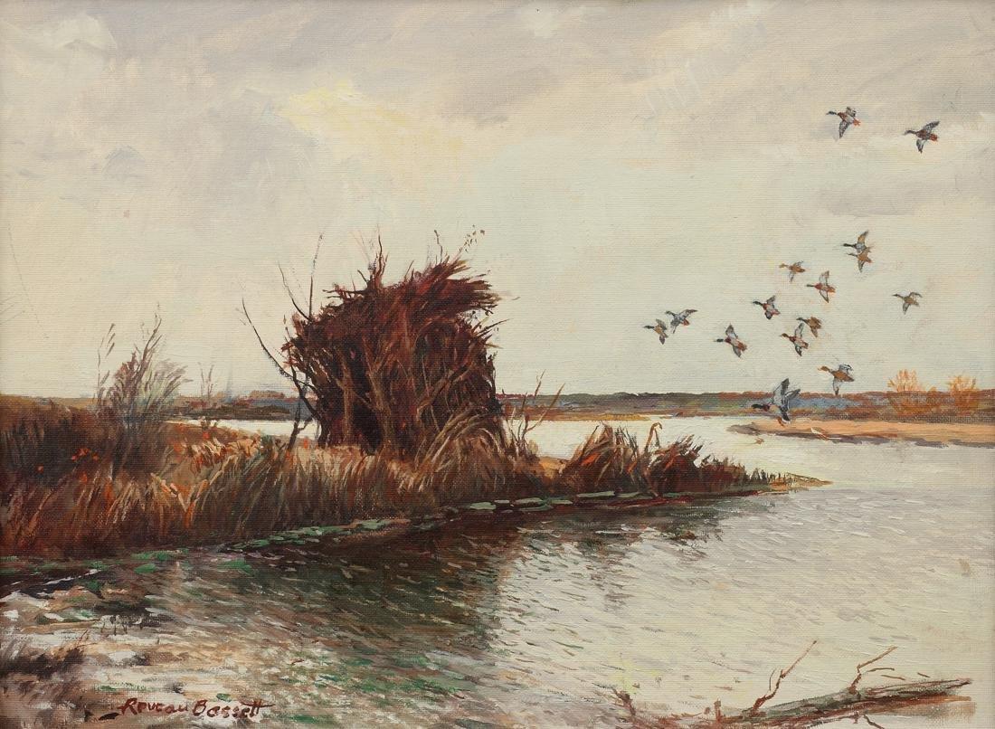 Reveau Bassett (Am. 1897-1981), Nobody Home, oil on