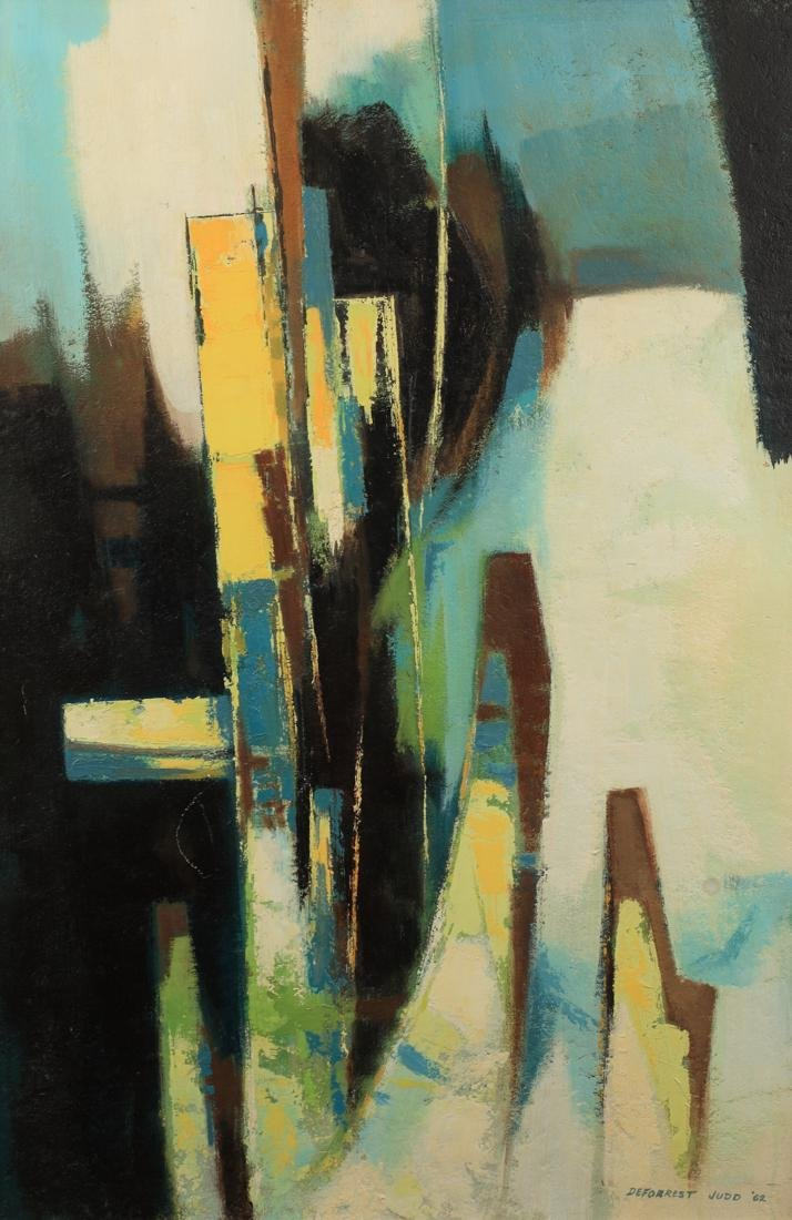 Deforrest Judd (Am. 1916-1993), Abstract, oil on