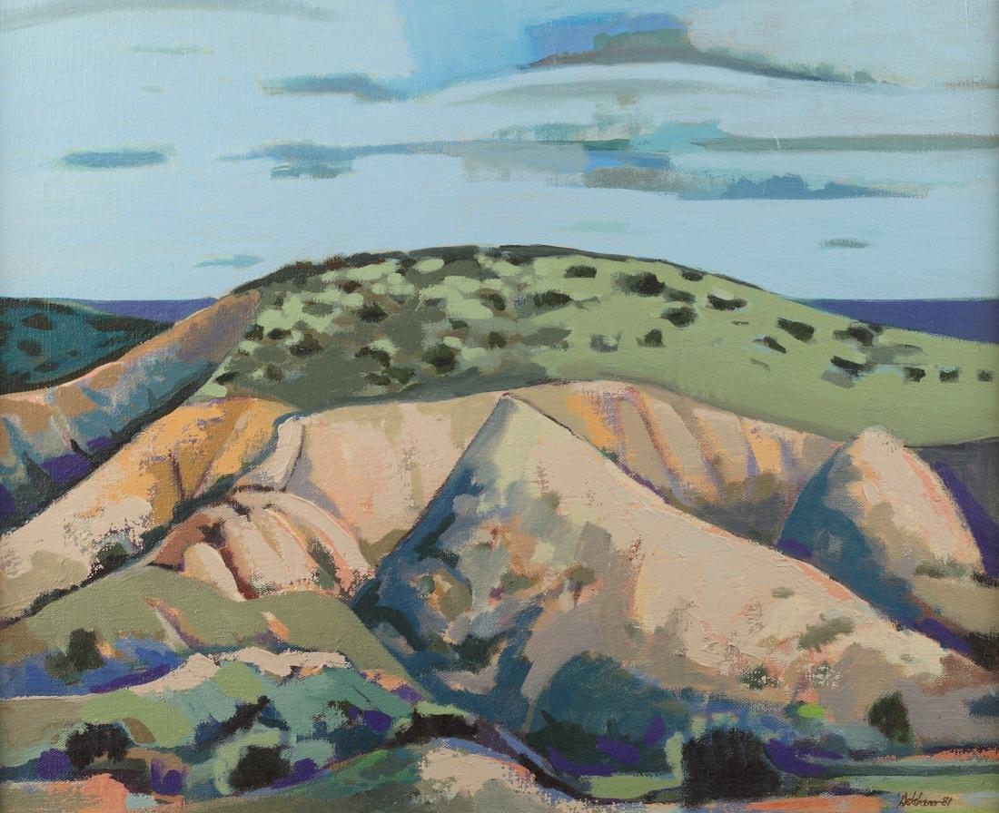 Barney Delabano (Am. (1926-1997), Landscape, oil on