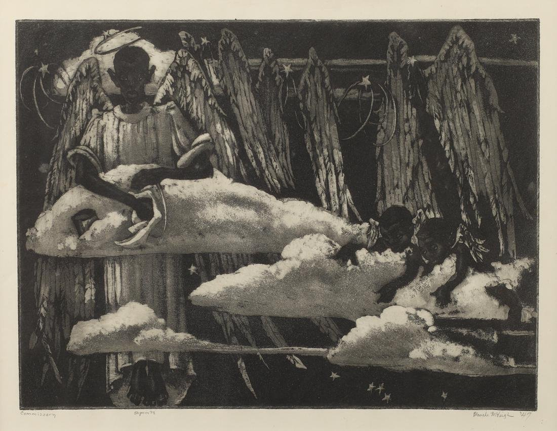 Blanche McVeigh (Am. 1895-1970), Commissary, etching