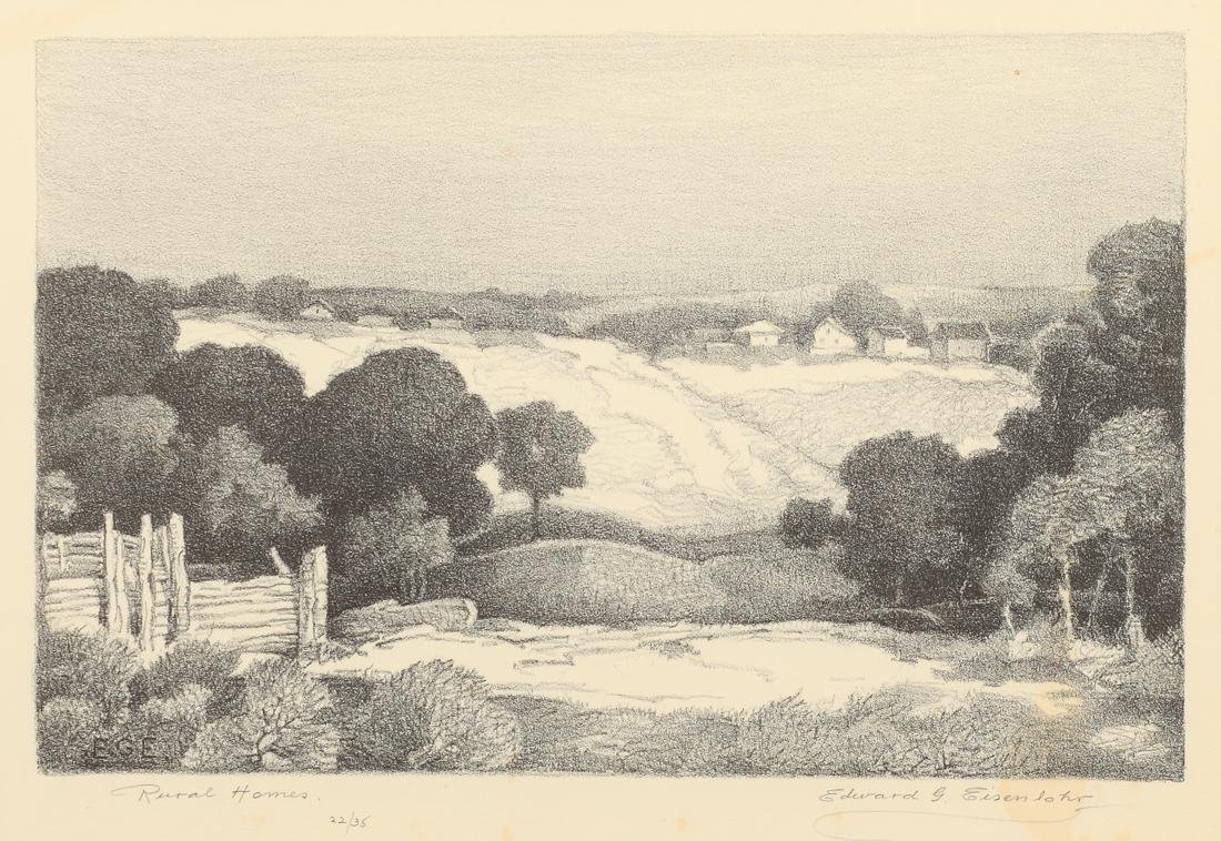 Edward Eisenlohr (Am. 1872-1961), Rural Homes, 1933,
