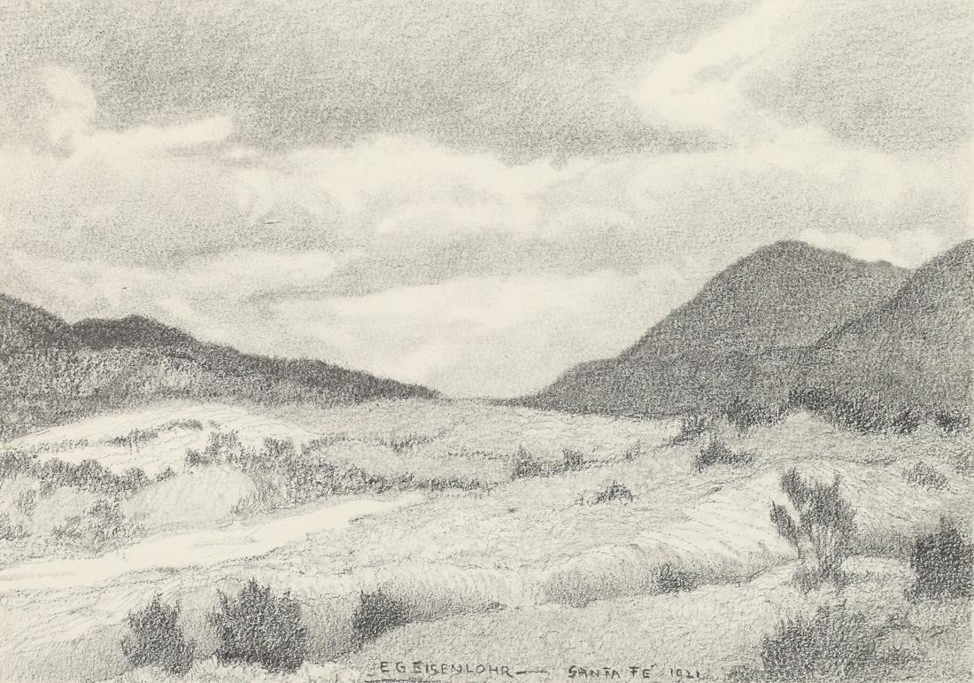 Edward Eisenlohr (Am. 1872-1961), Santa Fe, 1921,