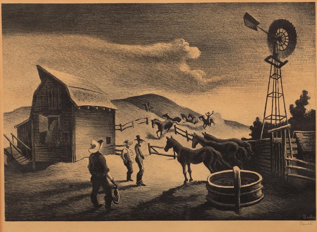 Thomas Hart Benton (Am. 1889-1975), The Corral (AAA